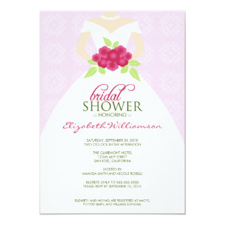 Wedding Dress Bridal Shower Invitation (lavender)