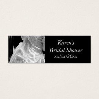 Wedding Dress Bridal Shower Mini Business Card