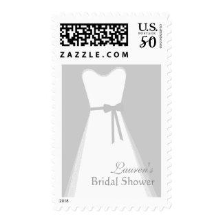 Wedding Dress, Bridal Shower Postage
