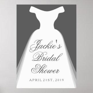 Wedding Dress Bridal Shower Poster