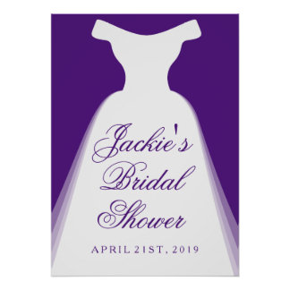 Wedding Dress Bridal Shower Poster