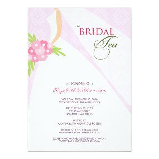 Wedding Dress Bridal Tea Invitation (lilac)