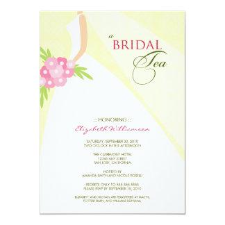 Wedding Dress Bridal Tea Invitation (yellow)