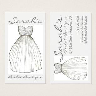 Bridal shop business cards templates zazzle wedding dress bride gown bridal shop boutique business card reheart Images