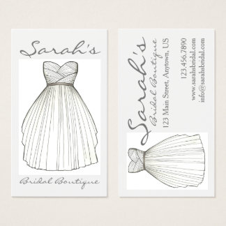 Wedding Dress Bride Gown Bridal Shop Boutique Business Card