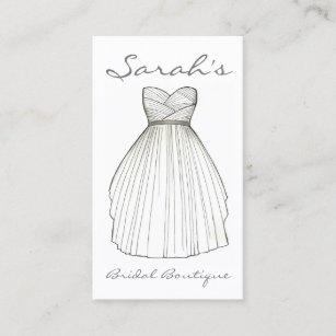 Wedding dress shop business cards zazzle wedding dress bride gown bridal shop boutique business card reheart Gallery
