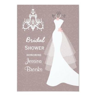Wedding dress Chandelier  Bridal shower Invitation