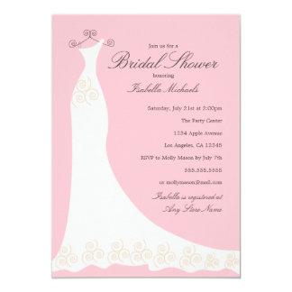 Wedding Dress | Custom Background Color Card
