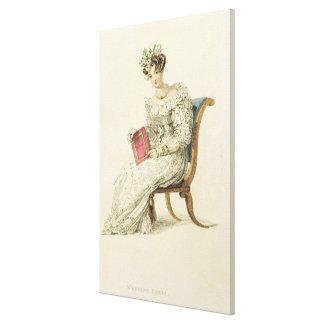 Wedding dress, fashion plate from Ackermann's Repo Canvas Print