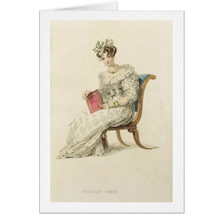 Wedding dress, fashion plate from Ackermann's Repo Greeting Card