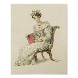 Wedding dress, fashion plate from Ackermann's Repo Poster