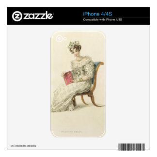Wedding dress, fashion plate from Ackermann's Repo iPhone 4 Decals