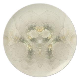 Wedding Dress Fractal Plate