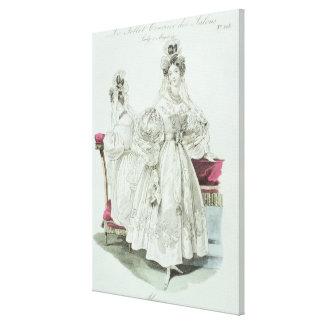 Wedding dress, 'Le Follet Courrier Salons Canvas Print