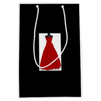 Wedding Dress Mother of the Groom Black Gift Bag Medium Gift Bag