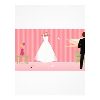 wedding dress pink stripe flyers