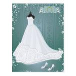 wedding dress post cards