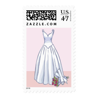 Wedding Dress postage stamps