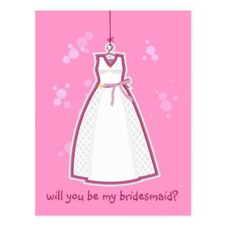 Wedding Dress Postcard