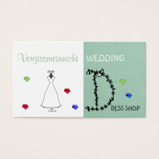 Wedding Dress Shop name card