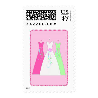 Wedding Dress Sparkle Postage Stamp