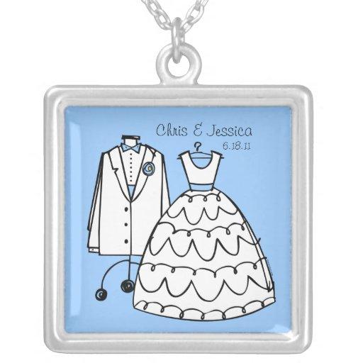 Wedding Dress & Tux Personalized Necklace