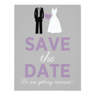 Wedding Dress & Tuxedo Save The Date Announcement