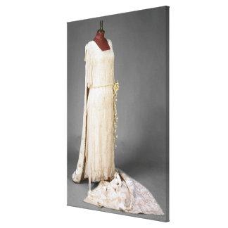 Wedding dress worn by Mary, Princess Royal, 1922 Canvas Print