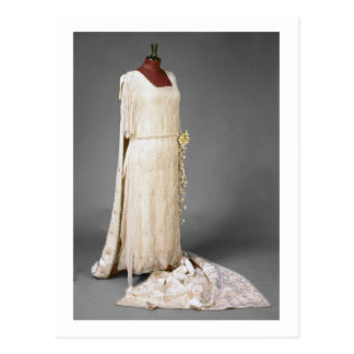 Wedding dress worn by Mary, Princess Royal, 1922 Postcard