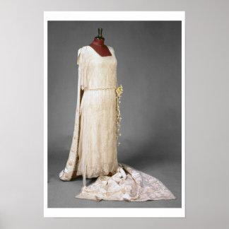 Wedding dress worn by Mary, Princess Royal, 1922 Poster