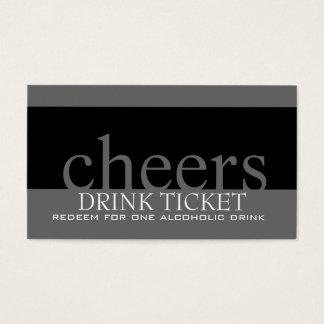 Wedding Drink Ticket for Reception