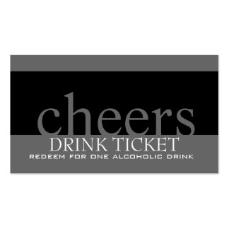 Wedding Drink Ticket for Reception Business Card Templates