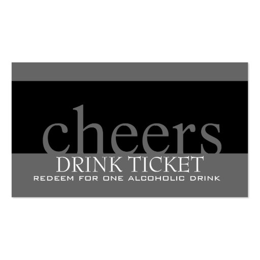 Ticket business card template 8000 drink business cards and drink business card templates zazzle reheart Image collections