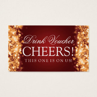 Wedding Drink Voucher Sparkling Lights Gold