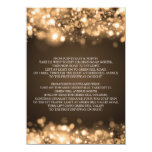 Wedding Driving Directions Sparkling Lights Gold Custom Announcement