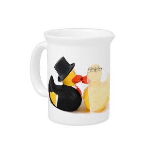 Wedding ducks 3 ...  ceramic pitcher