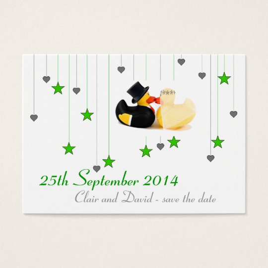 Wedding ducks 3 ... Save the date Business Card