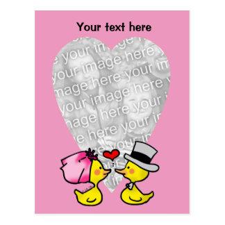 Wedding ducks postcard