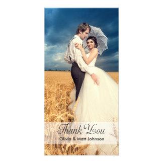 Wedding Elegance - Thank You Photo Card
