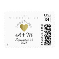 wedding elegant postage