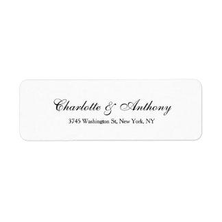 Wedding Elegant Script Creative Black White Label