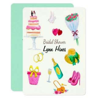 Wedding Elements Bridal Shower Card