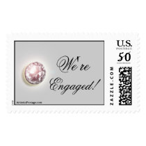 Wedding Engagement Announcement Party Invitation Postage