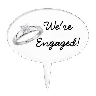 Wedding Engagement Cake Topper