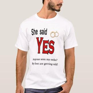 Wedding Engagement (His) Apparel T-Shirt