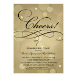 """Wedding Engagement Party   Champagne Theme 5"""" X 7"""" Invitation Card"""