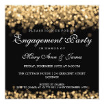 Wedding Engagement Party Gold Lights 5.25x5.25 Square Paper Invitation Card