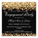 Wedding Engagement Party Gold Lights Invitation