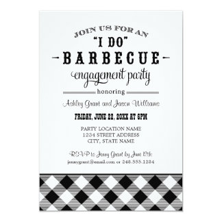 "Wedding Engagement Party Invitation | ""I Do"" BBQ 5"" X 7"" Invitation Card"