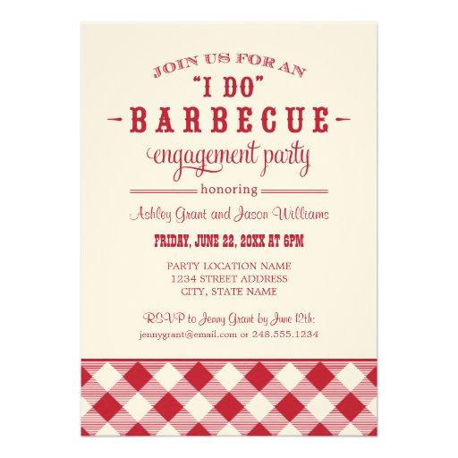 "Wedding Engagement Party Invitation | ""I Do"" BBQ"